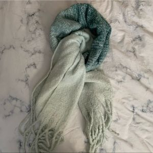 Mer-Sea Teal Ombre Blanket Scarf